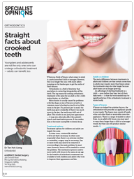 Straight facts about crooked teeth